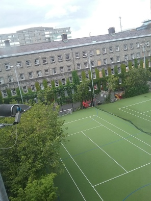 Green No 1 The campus tennis courts